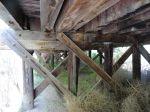 Unterkonstruktion der alten Holzbrücke
