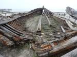 Wrack eines Salzbootes
