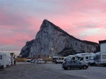 Gibraltar im Abendrot